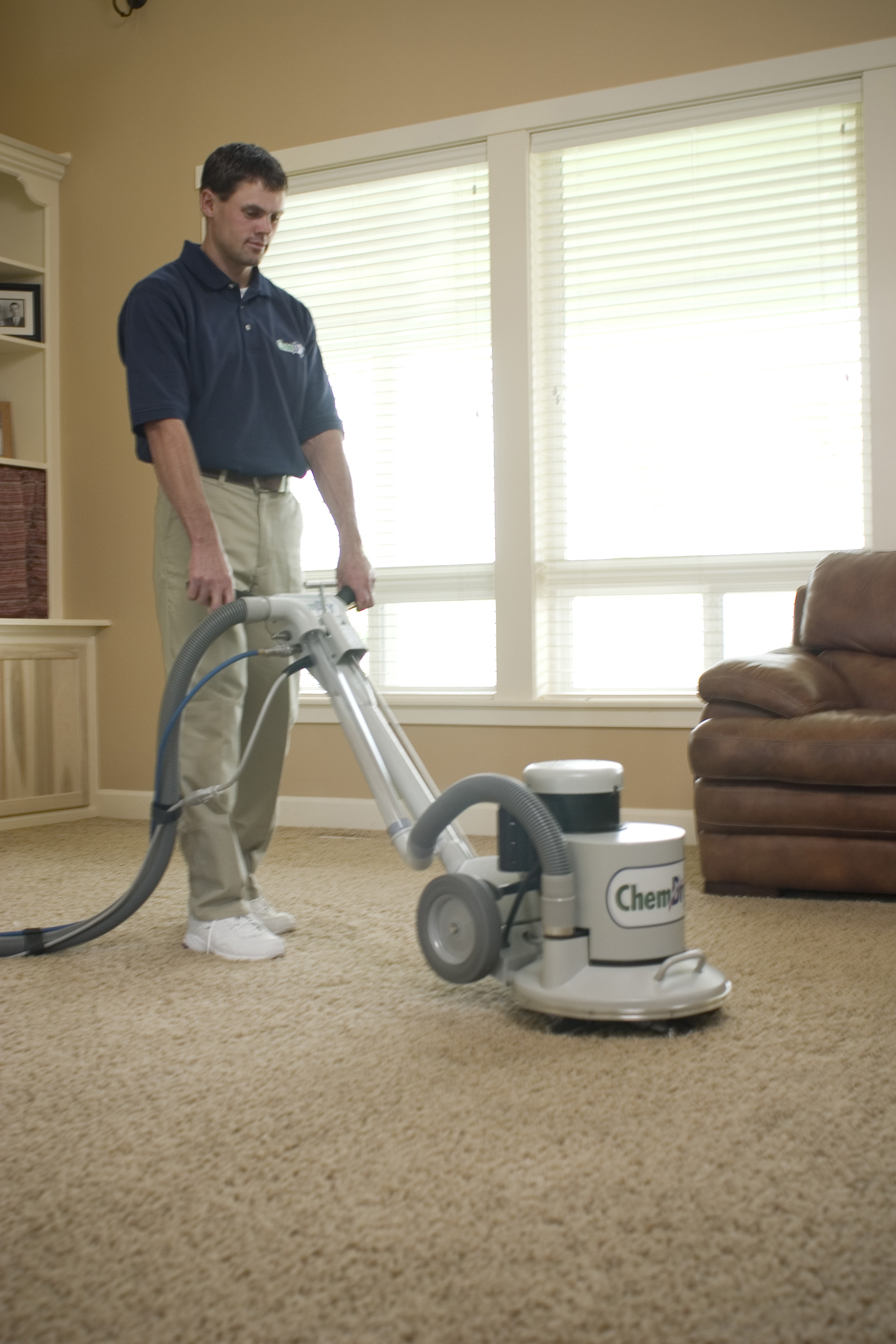 Mark Ray's Chem-Dry Technician Providing Carpet Cleaning Services in Lodi